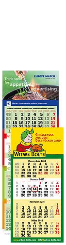 terminic 4-Monatskalender mit Europe Match und Witwe Bolte Beispielmotiv