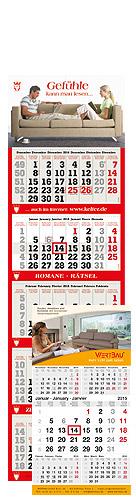 """terminic 5-Monatskalender mit """"Gefühle kann man lesen"""" und Wertbau als Beispielmotiv"""