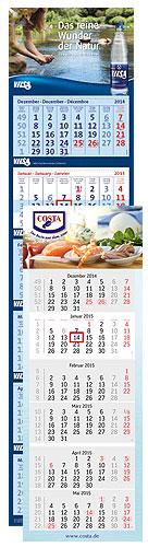 terminic 6-Monatskalender mit Vilsa und Costa als Beispielmotiv