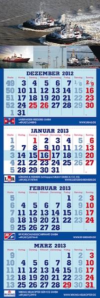 Der 4-Monatskalender der URAG 2013