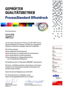 terminic Juli 2015: PSO-Zertifikat