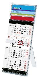 terminic Tischkalender quadro mit 4-Monatsübersicht