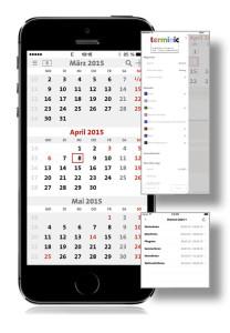terminic 3-Monatskalender-App_Einstellungen