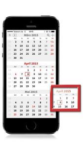 terminic 3-Monatskalender-App_Startansicht
