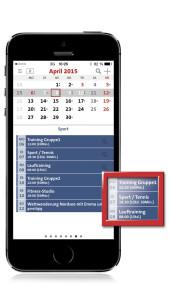 terminic 3-Monatskalender-App_Suchfunktion