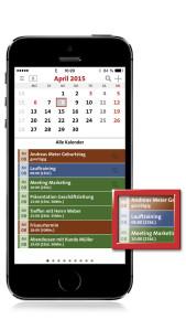 terminic 3-Monatskalender-App_Terminansicht