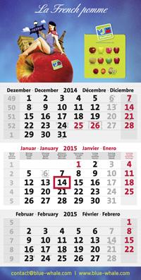 3-Monatskalender planer mit imbach logistik Beispielmotiv in blau