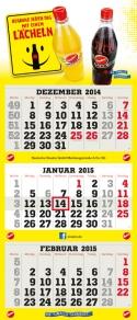 3-Monatskalender super 1 mit Sinalco Beispielmotiv in grau