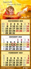 3-Monatskalender super 101 mit Thale Beispielmotiv in chamois