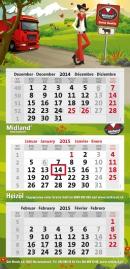 3-Monatskalender super 103 mit Midland Beispielmotiv in grau