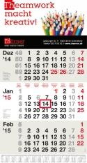 3-Monatskalender data mit Thörner Beispielmotiv in grau