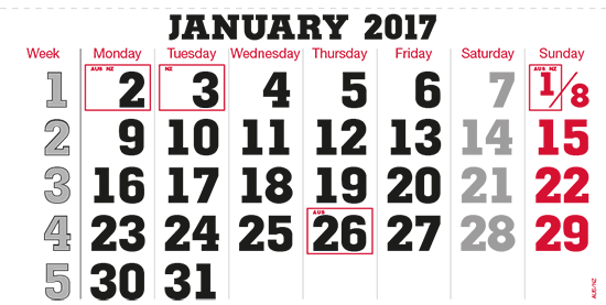 terminic Mehrmonatskalender AUSTRALIEN/ NEUSEELAND