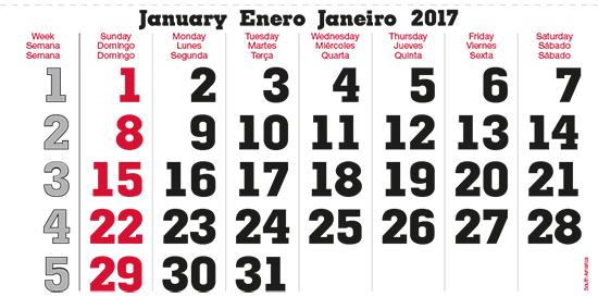 terminic Mehrmonatskalender Super Suedamerika Januar 2015