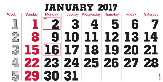 terminic Mehrmonatskalender Super USA-Kanada