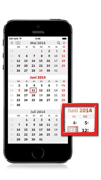 Der erste mobile 3-Monatskalender – terminic App