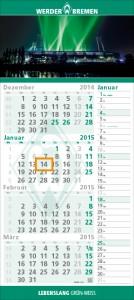 4-Monatskalender Werder Bremen