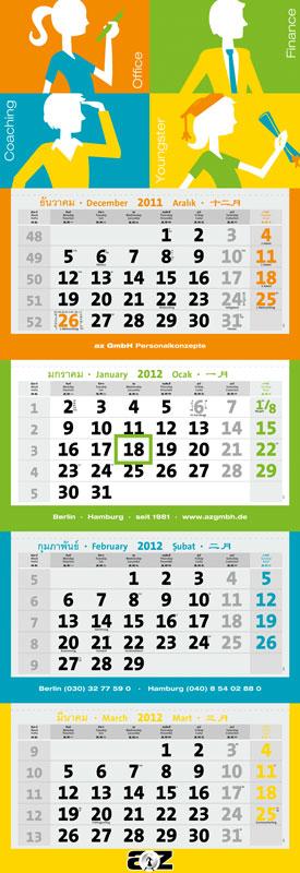 Individuelle Kalender nach Maß