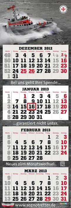 4-Monatskalender der Seenotretter 2013