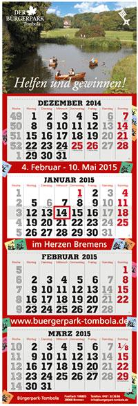 terminic spendet 4-Monatskalender an Bürgerpark-Tombola