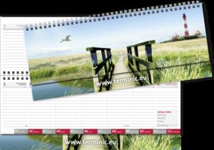 terminic Tischquerkalender mega Muster Leuchtturm