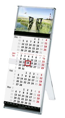 terminic Tischkalender Tischstaender Quadro Muster Leuchtturm