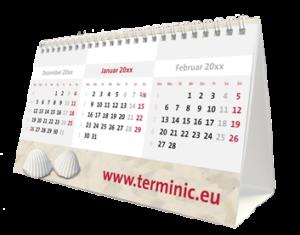 terminic Tischkalender Zeltkalender Focus Muster Leuchtturm