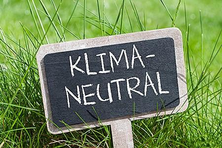 Schild Klima Neutral