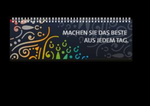 Tischquerkalender als Musterkalender - Der MEGA 1 mit Umschlag von terminic im bunten Mandala Design